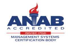 ANAB Accredited ISO/IEC 17021 Management Systems Certification Body Logo